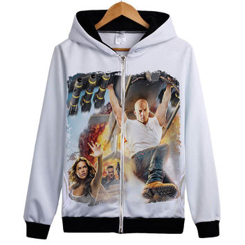 Vin Diesel Hoody The Fast and Furious 8 hoodie Dwayne Johnson Jacket Coat hoodie Brand hoody