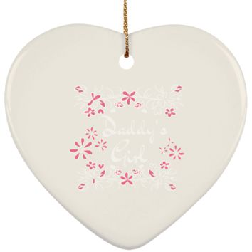 14 daddys girl SUBORNH Ceramic Heart Ornament