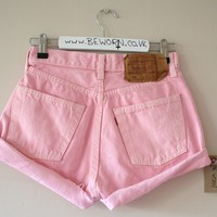 BeWorn — Marshmallow Pink Levi's High Waisted 501 Shorts