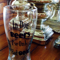 Personalized Beer Glass, Custom Beer Glass, Man Cave Gift