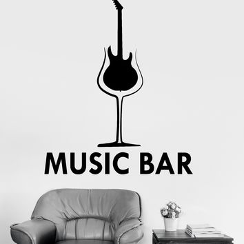 Vinyl Wall Decal Music Musical Bar Decor Drink Alcohol Stickers Unique Gift (ig3465)