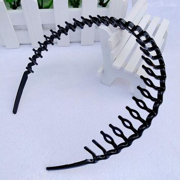 TKOH 1Pcs Mens Women Unisex Black Hair Accessories Head Hoop Band Headband Hairband Hairpins Styling Tools