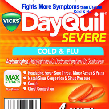 dayquil severe 4ct caplets (carton of 6) Case of 6