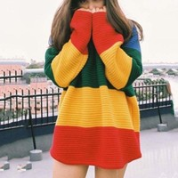 Oversized Rainbow Sweater