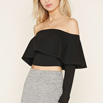Flounce Off-the-Shoulder Top