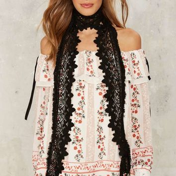 Front Row Lace Scarf