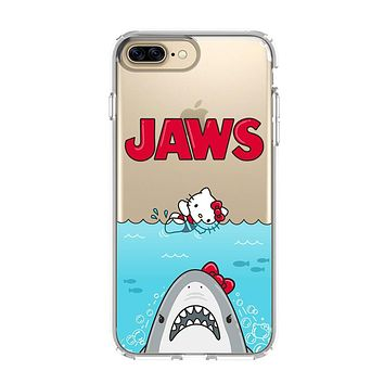 JAWS HELLO KITTY iPhone 5/5S/SE 6/6S 7 8 Plus X/XS Max XR Clear Case Transparent