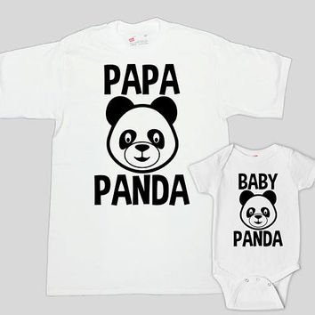 Father Son Matching Shirts Daddy And Daughter Gifts Dad And Son T Shirts Daddy And Me Clothing New Dad Papa Baby Bear Bodysuit - SA795-797