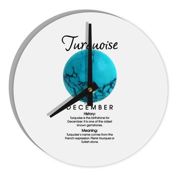 "Birthstone Turquoise 8"" Round Wall Clock  by TooLoud"