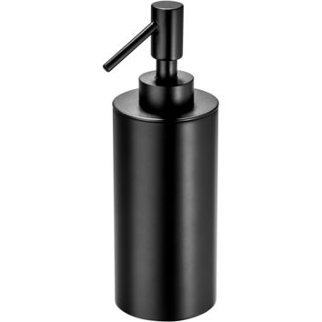 Black Table Pump Liquid Soap Lotion Dispenser for Bathroom, Kitchen, Brass