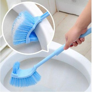 DCCKL72 2017 Home Use Plastic Long Handle Bathroom Toilet Bowl Scrub Double Side Cleaning Brush