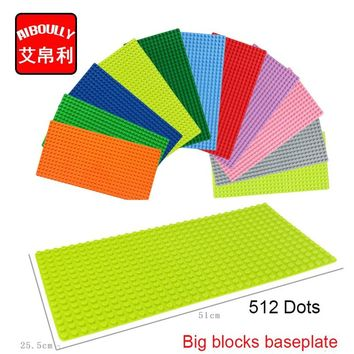 1pcs/lot big Particles Building Blocks Base Plate 51*25.5cm Baseplate 100% Compatible Duploe Kids diy Bricks Baseplate Toys