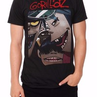 Gorillaz FACES T-Shirt NWT Authentic & Licensed