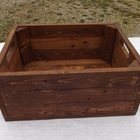 Storage Crate From Reclaimed Wood, English Chestnut, Toy Storage, Apple Crate, Pallet Furniture, Home Decor