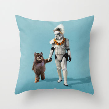 Star Wars Buddies Throw Pillow by Lev Man