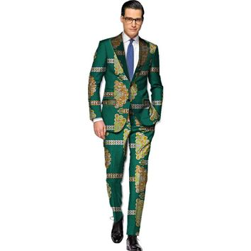 African blazers and trousers men fashion africa print dashiki suits