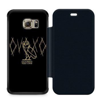 Ovoxo October Very Own Leather Wallet Flip Case Samsung Galaxy S6 Edge