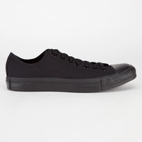 Converse Chuck Taylor All Star Low Mens Shoes Black Monochrome  In Sizes