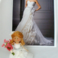 Custom Cake Toppers Clothespin Dolls  Match Your Wedding Attire