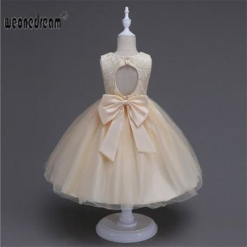flower girl dresses princess for weddings bench weddings yellow champagne butterfly embroidery kids dress girl's pegeant meninas
