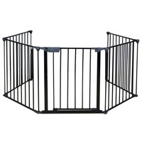 Baby Safety Gate Door Extra Wide Metal Walk Thru Pet Dog Cat Fence