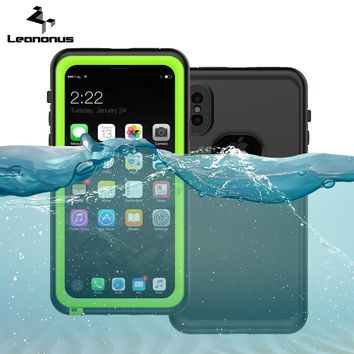 Waterproof Case For iPhone X Swim Proof Diving Water Shock Proof Cover Phone Cases For iPhone 8 7 6 6s Plus Skiing Back Cover