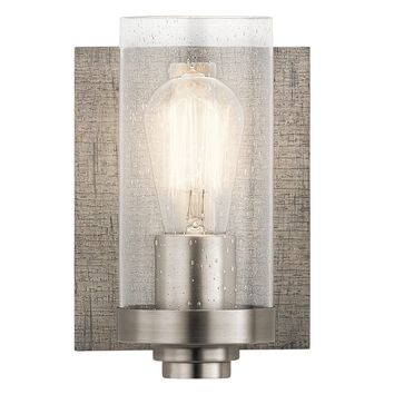 1-light Pewter Modern Bath/Vanity Light (Grey) Rustic