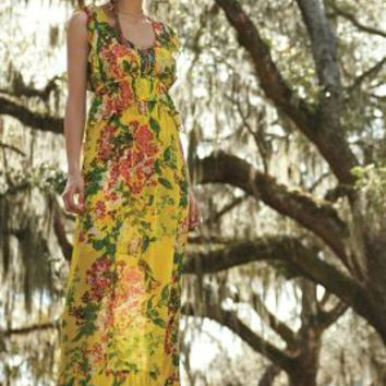 Plenty by Tracy Reese Sungrove Maxi Dress in Yellow Size: