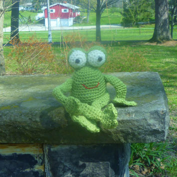 Crochet Amigurumi Frog Stuffed Animal/Doll