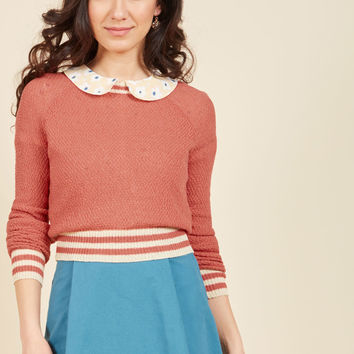 Midtown Mixer Sweater in Punch | Mod Retro Vintage Sweaters | ModCloth.com