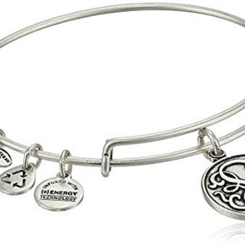 "Alex and Ani Bangle Bar ""Path of Life"" Rafaelian Silver Finish Expandable Bracelet"