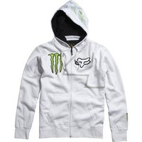 Fox Racing Monster Ricky Carmichael Replica Zip-Up Hoodie - Large/White