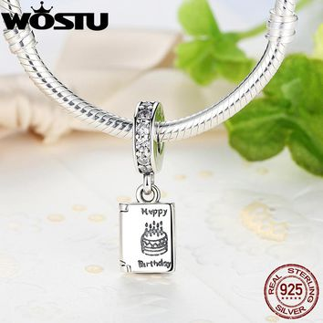 Real 925 Sterling Silver Birthday Wishes Charm