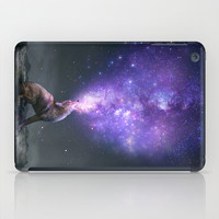 All Things Share the Same Breath (Coyote Galaxy) iPad Case by Soaring Anchor Designs