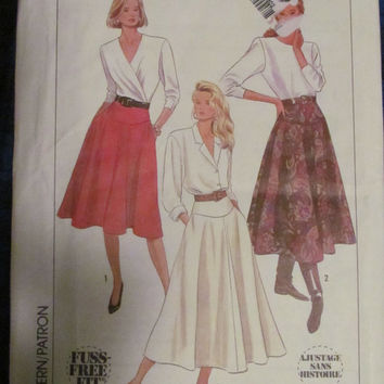 Uncut 1980's Simplicity Sewing Pattern, 9317! Size 14-16-18, Medium/Large/XL, Women's/Misses, Long Casual/Formal Skirts, Summer/Spring