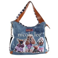SIDNEY DOG FAMILY PRINT HOBO BAG - NEW ARRIVALS