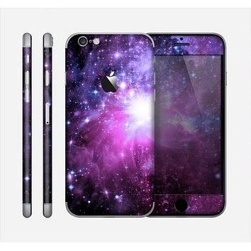 The Purple Space Neon Explosion Skin for the Apple iPhone 6
