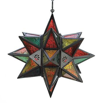 Metal Moroccan Style Star Candle Holder Lantern