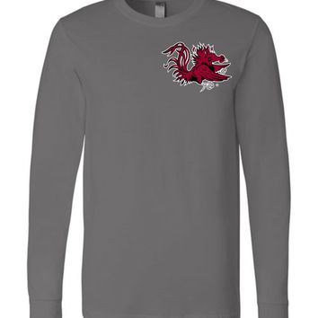 Official NCAA University of South Carolina Fighting Gamecocks USC COCKY SC Camo Long Sleeve T-Shirt - 36SC-03