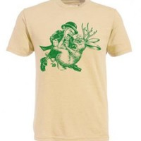 Ames Bros Leprechaun vs. Jackelope Charlie Kelly Natural Cream Adult T-shirt - It's Always Sunny In Philadelphia - | TV Store Online