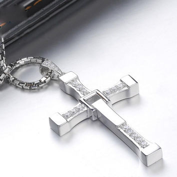 Cross Pendant Jewelry Silver Plated Jesus Pendant Necklace Men women good quality