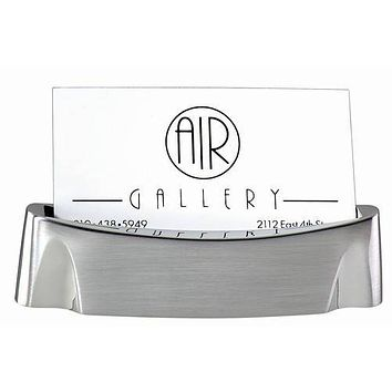 Personalized Free Engraving Boat Style Silver Business Card Holder