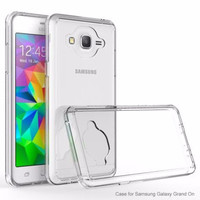 Galaxy On5 Case, Slim Armor Defender EZ-Grip Bumper Case for Samsung Galaxy On5 - Clear