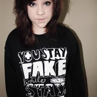 Stay Fake (Crewneck Sweatshirt) | STAY GREAT APPAREL