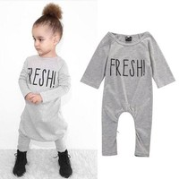 Newborn Toddler Baby Boy Girl Cotton Romper