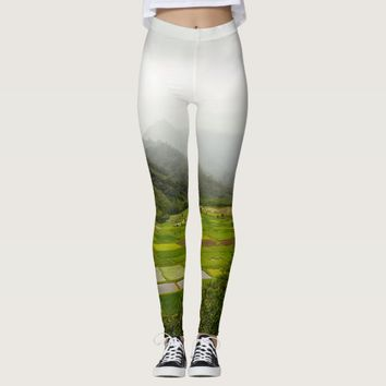 Kauai, Hawaii Landscape Scene Leggings