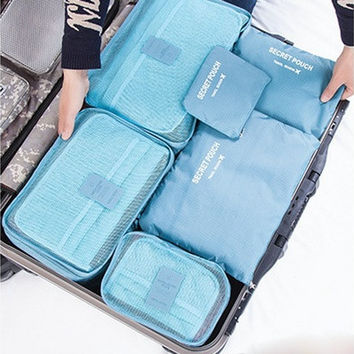Newcomdigi 6pcs Foldable Storage Bag Clothes Blanket Closet Sweater Organizer Bag Packing Pouch [8323205313]