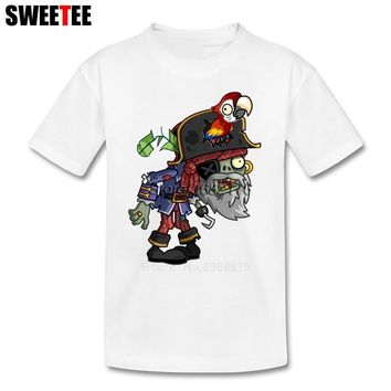 Plants Vs Zombies children's Garment T Shirt Infant Toddler Cotton Boy Girl 2018 T-shirt Round Neck Kid Tshirt