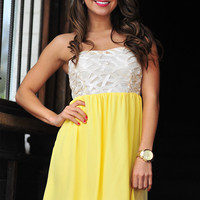 Completely Intertwined Dress: Lemon | Hope's