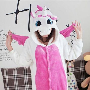 Hot Adult Fleece Pink Unicorn Onesuit Pajamas Adult Unisex Cosplay Animal Onesuits for adults pajama suit  pijamas feminino